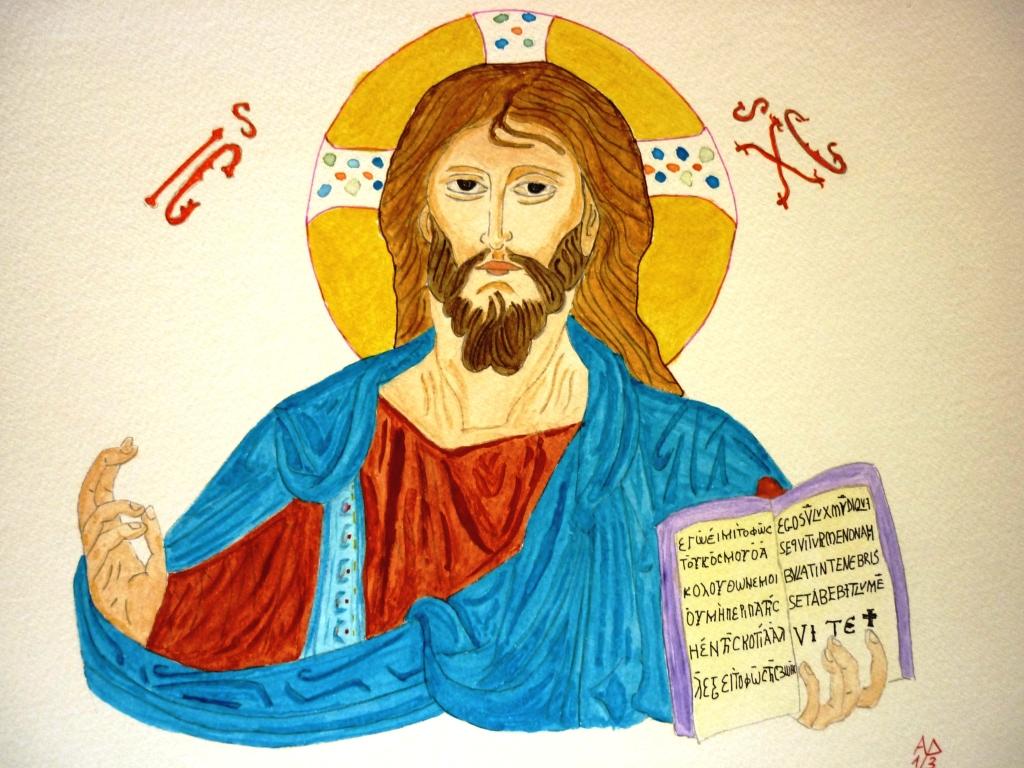 Cristo pantocratore - acquarello