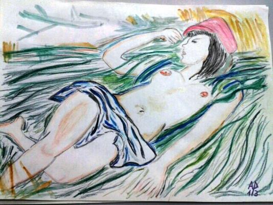 Sleeping girl - omaggio a Andre Planson