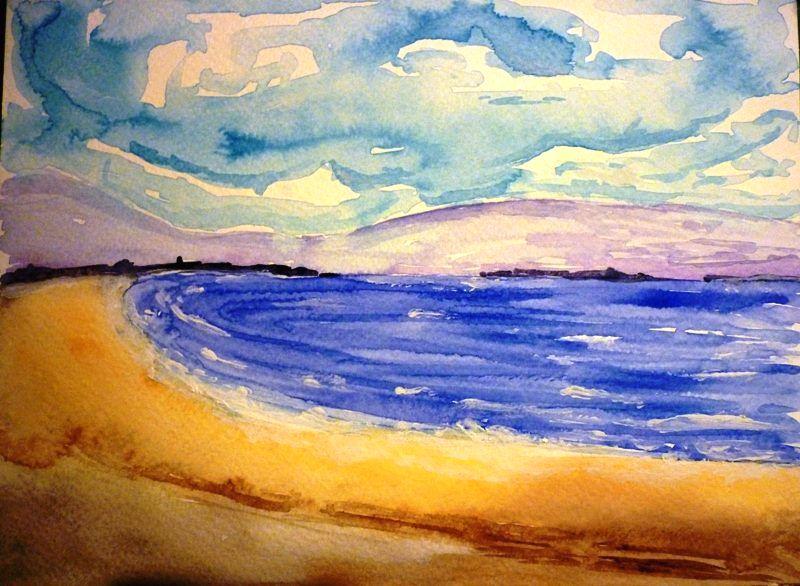 Spiaggia - Acquarello e tempera