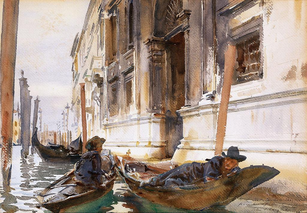 "Sargent, John Singer – ""La siesta dei gondolieri"" (1904 c.)"