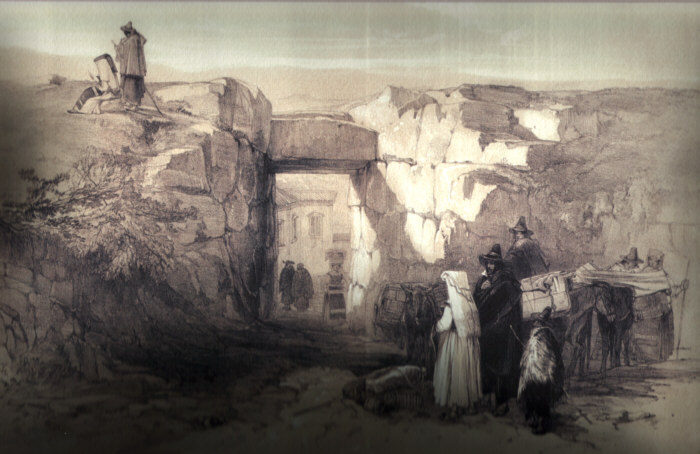 Alatri, interno di Porta Maggiore (Acropoli) 1841