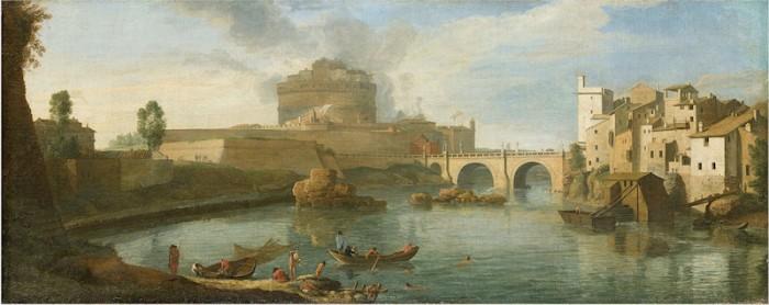 Il Tevere a Castel Sant' Angelo visto da sud, 1710-1715