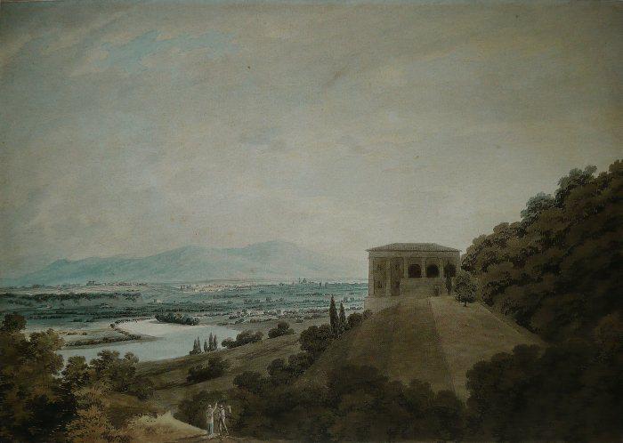 John Robert Cozens- Villa Madama a Roma-1791