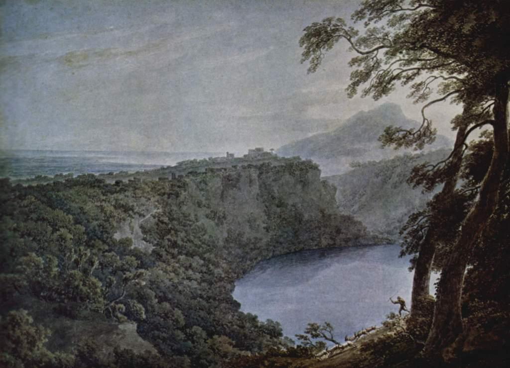 John Robert Cozens - Lago di Nemi 1777