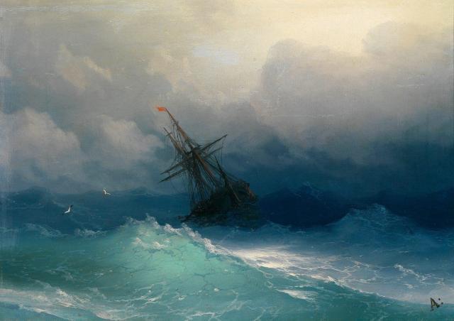 Nave-nel-mare-in tempesta-1858