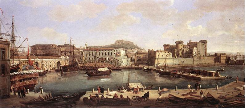 Vista del porto di Napoli 1700-1710