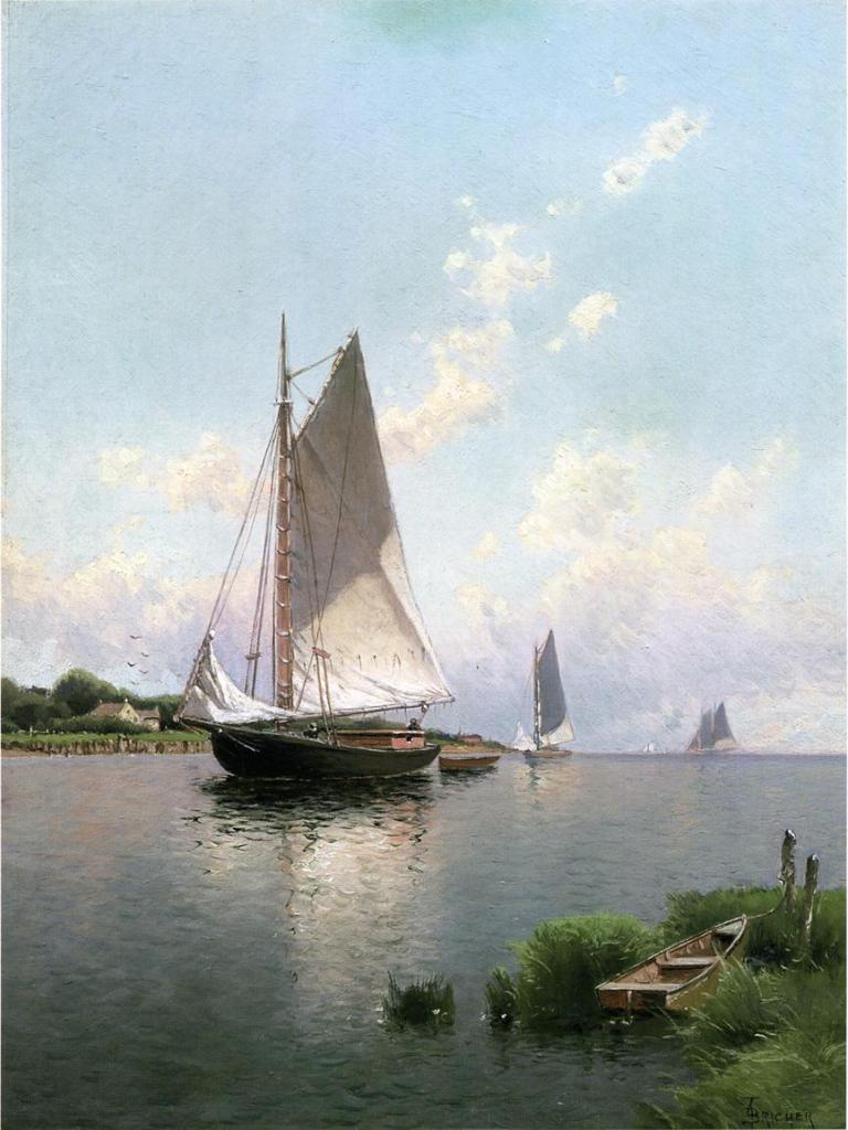 Alfred Thompson Bricher -Blue Point, Long Island,1888