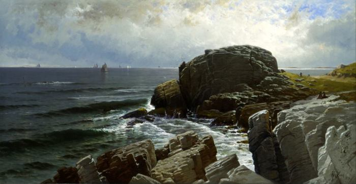 Alfred Thompson Bricher Castle rock - 1878