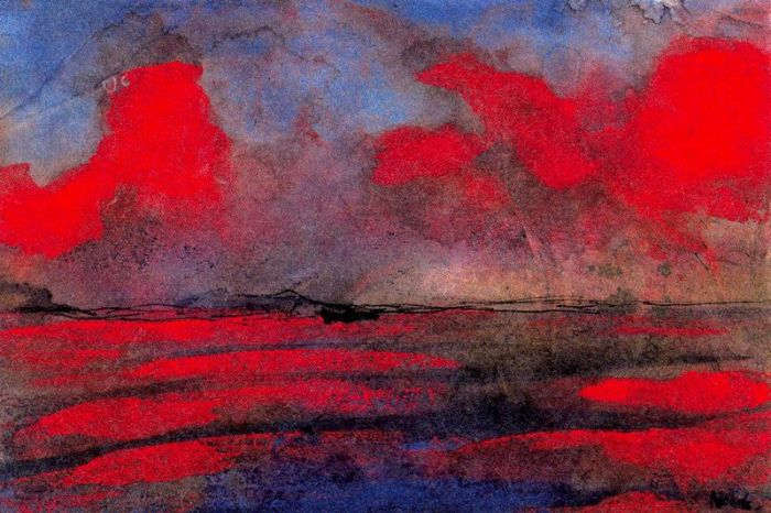Emil Nolde - Landscape in Red Light