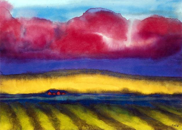 Emil Nolde - Marsh with farm