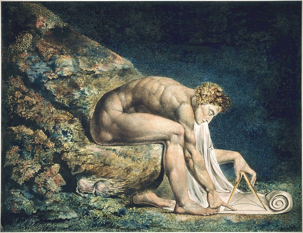 "William Blake ""Newton"" Incisione (1795)"