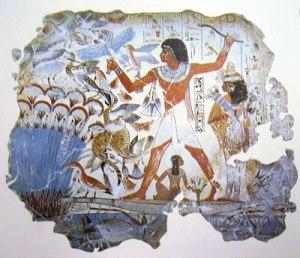Arte egizia - Nebamon a caccia