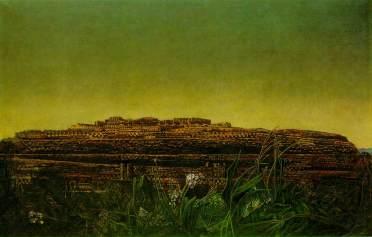 L'intera città 1933-36 - olio su tela -