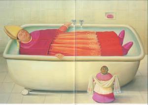 Il bagno del Vaticano 2006, olio su tela