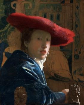 Ragazza con il cappello rosso - Vermeer, 1655