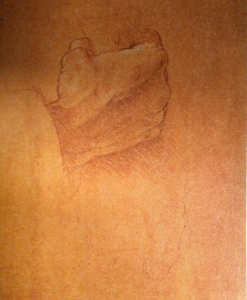 Studio per la mano di Giuda - Leonardo