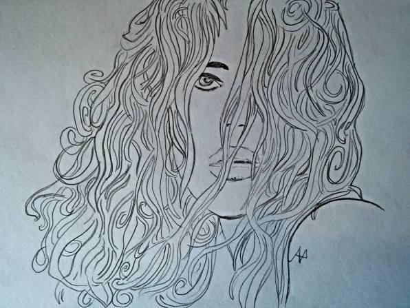 Omaggio al Maestro Milo Manara - grafite su foglio acquarello
