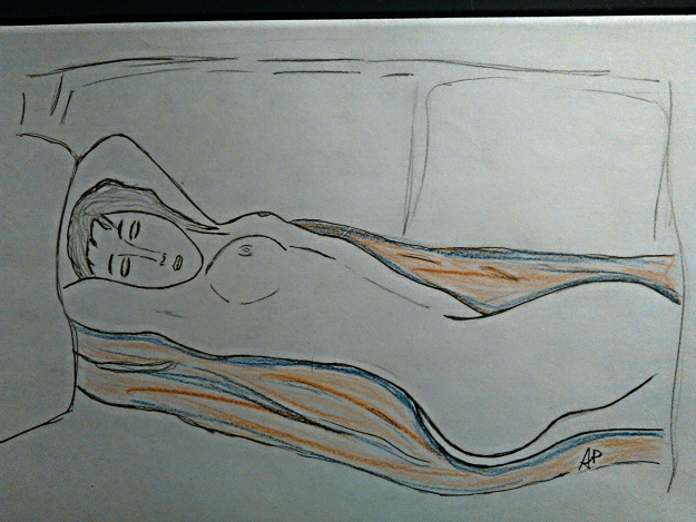 Nudo femminile - grafite su carta