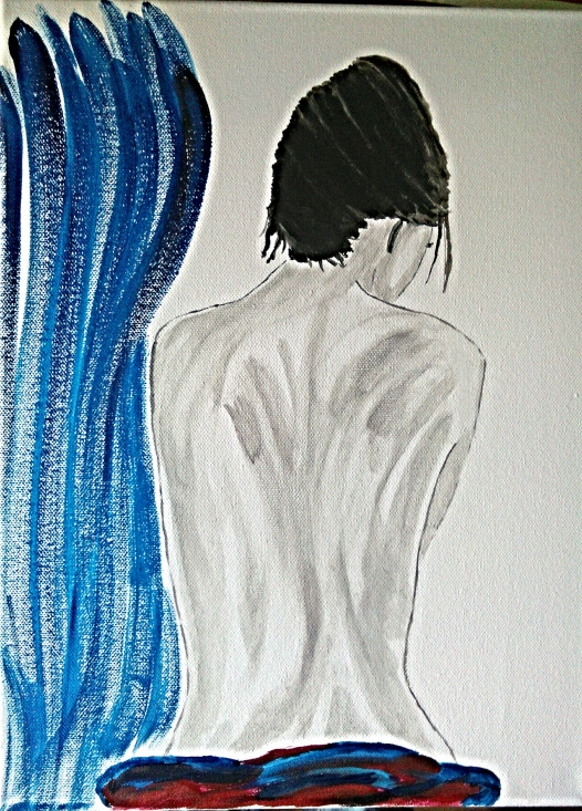 Blu - Acrilico su tela