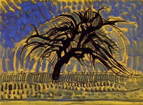 L'albero blu - Mondrian
