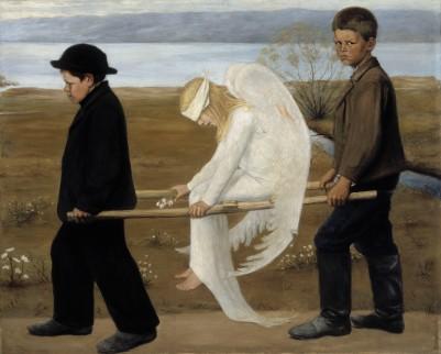 L'Angelo ferito- Hugo Simberg, 1903 circa - olio su tela