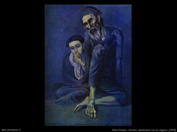 Vecchio mendicante con un ragazzo, 1903