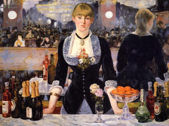 The Bar at the Folies Bergeres - Edouard Manet