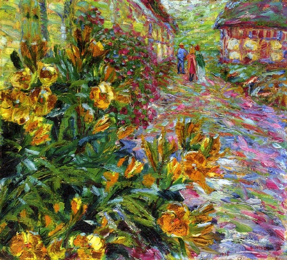 Emil Nolde Yellow Flowering Shrub 1906