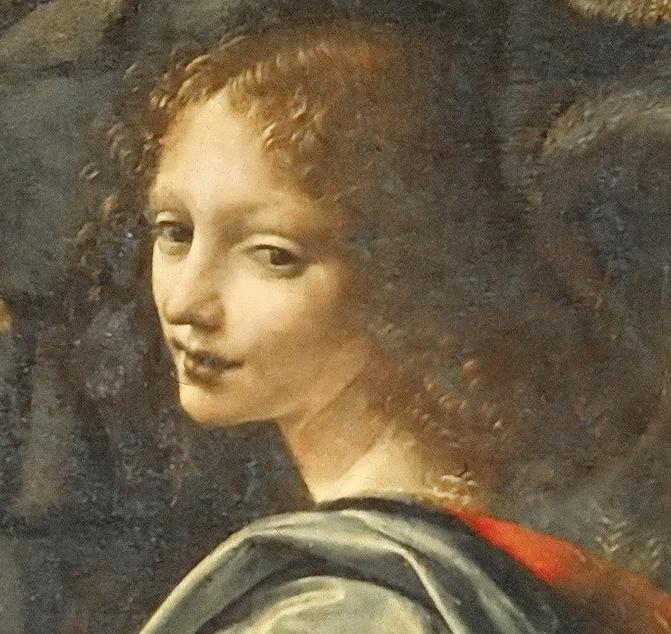 Dettaglio Volto de La Vergine delle rocce - Leonardo (Louvre)