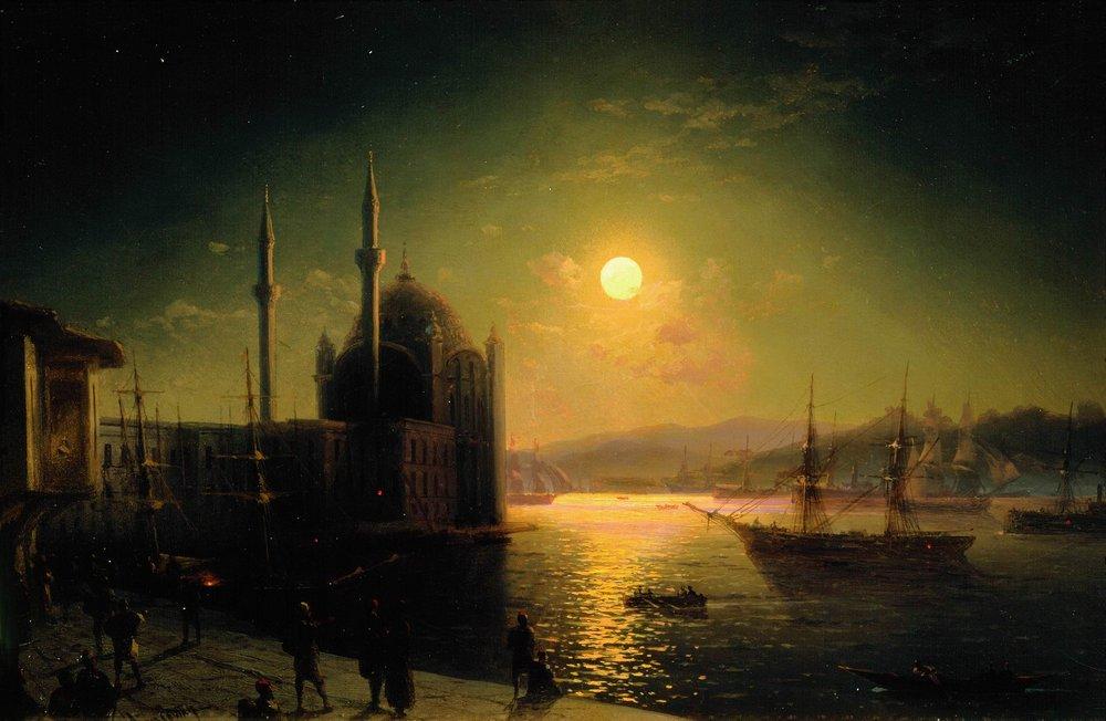 Ivan Konstantinovich Aivazovsky Moonlit Night on the Bosphorus, 1894