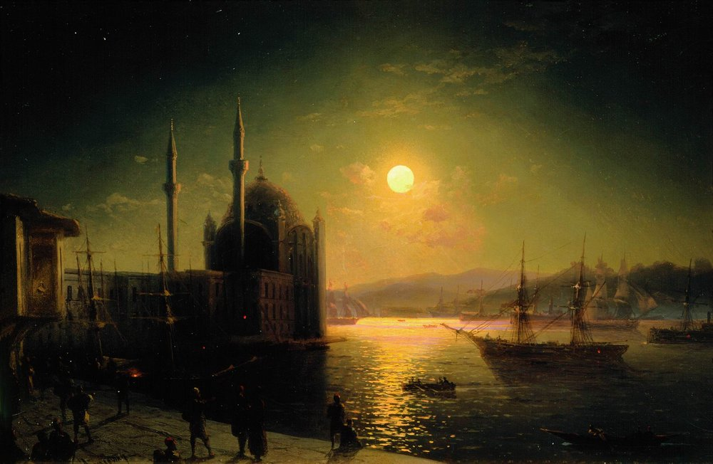 Ivan Konstantinovich Aivazovsky Moonlit Night on the Bosphorus, 1894