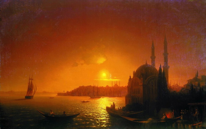 Ivan Konstantinovich Aivazovsky Type of Constantinople in the moonlight, 1846