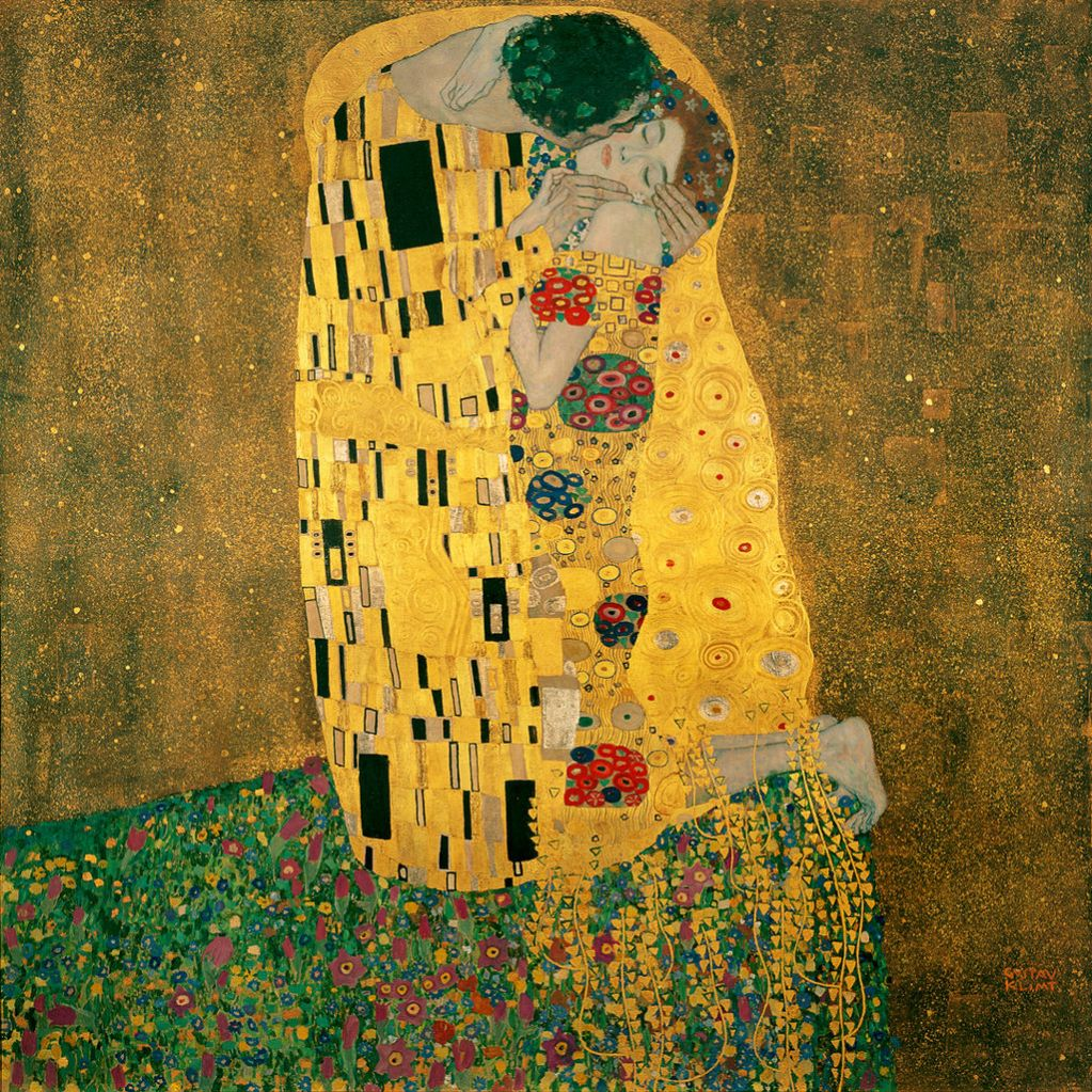 Gustav Klimt - Il bacio -