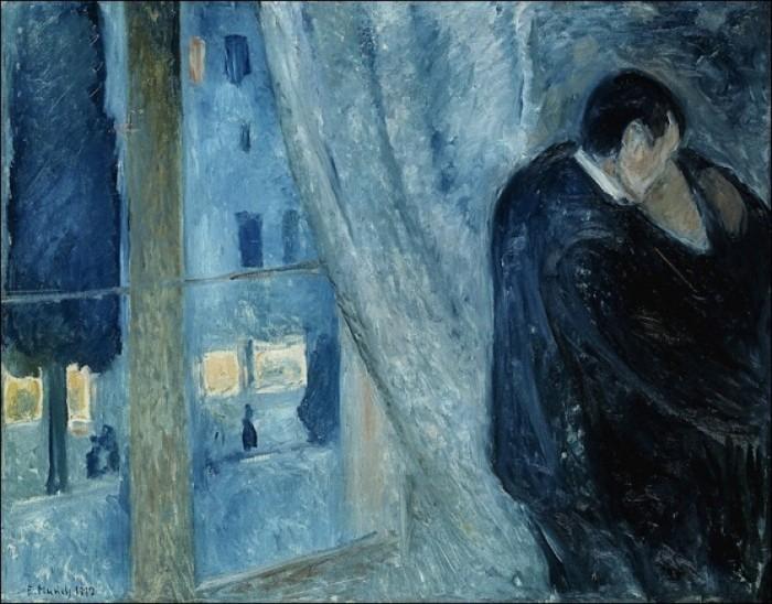 Edvard Munch - Bacio alla finestra - 1892