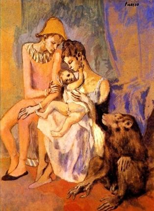 La famiglia di acrobati con scimmia, 1905 - Picasso
