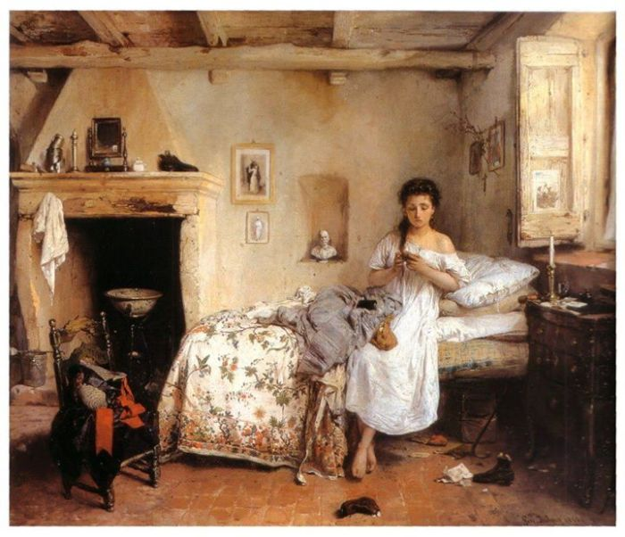 Gerolamo Induno - Triste presentimento_- 1862