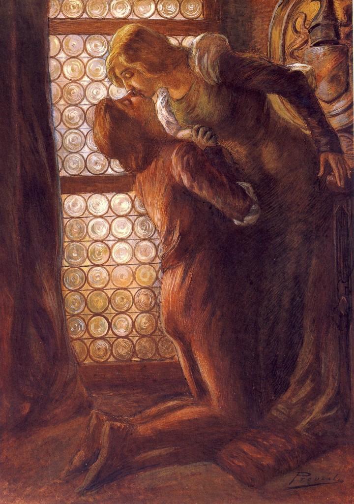 Gaetano Previati - Il bacio -