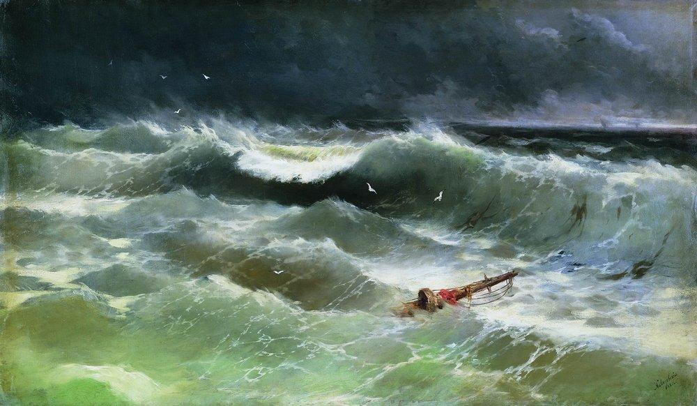 Ivan Konstantinovich Aivazovsky - Storm 1886