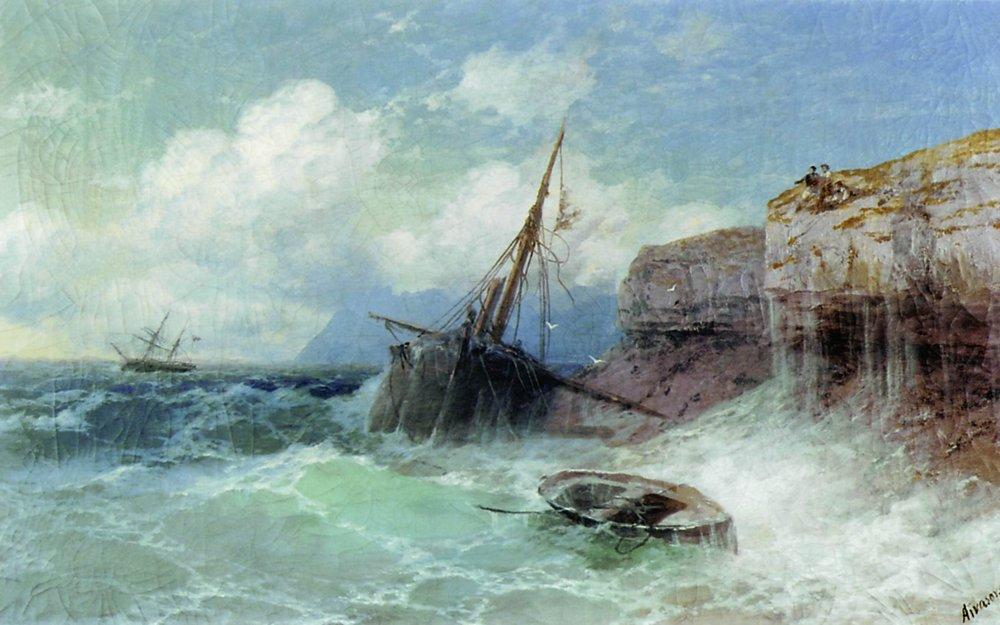 Ivan Konstantinovich Aivazovsky Storm at Sea 1880