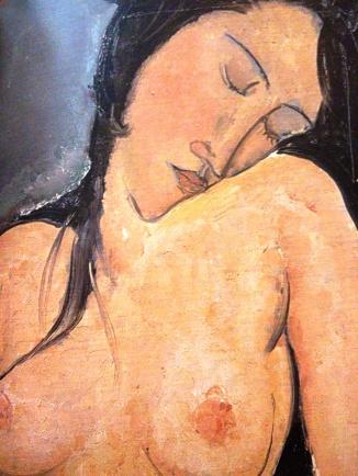 Nudo seduto 1916 Nudo seduto, particolare, Modigliani Olio su tela 92 X 60 - Londra, Courtauld Institute