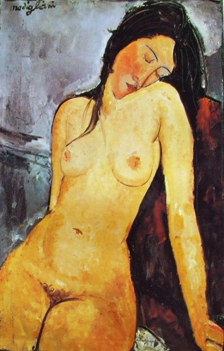 Nudo seduto 1916 Nudo seduto Olio su tela 92 X 60 - Modigliani Amedeo
