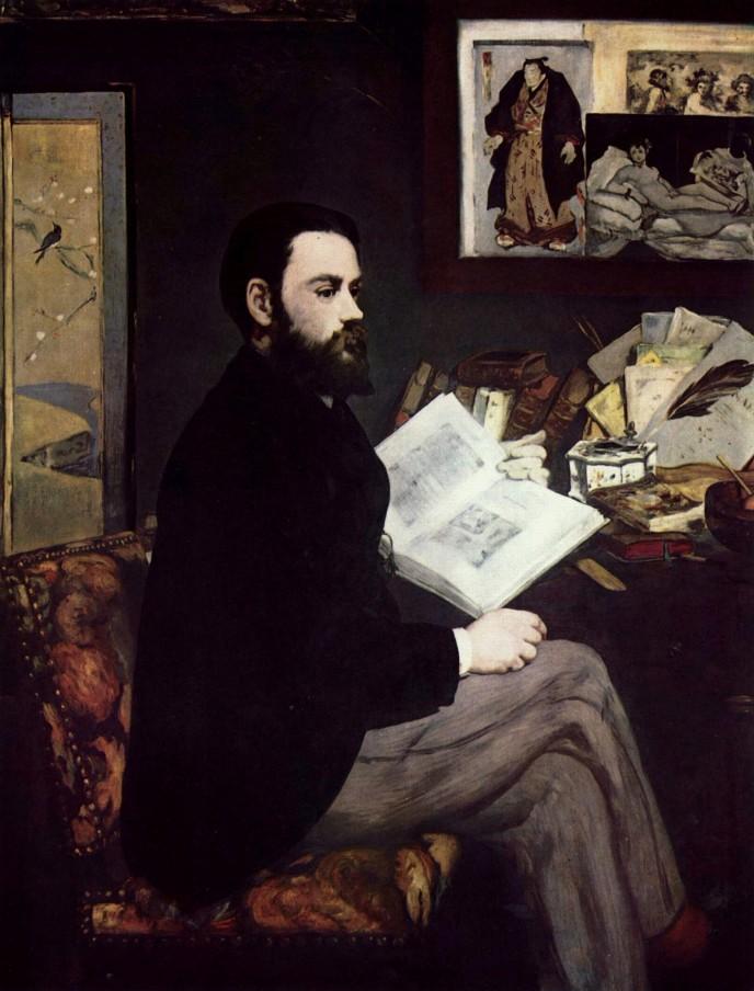 Ritratto di Émile-Zola di Édouard Manet, 1868