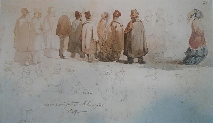 Ippolito Caffi - Macchiette popolari veneziane - 1849