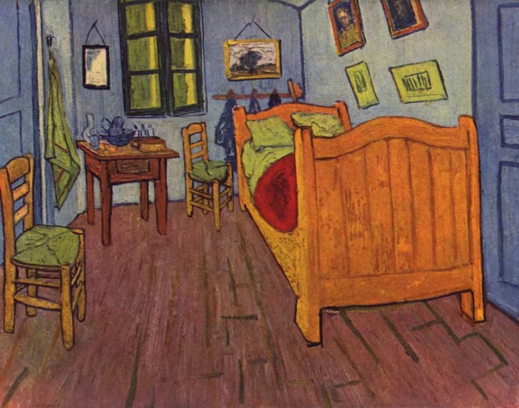 Vincent Van Gogh - La camera da letto, 1880 -Olio su tela 72x90