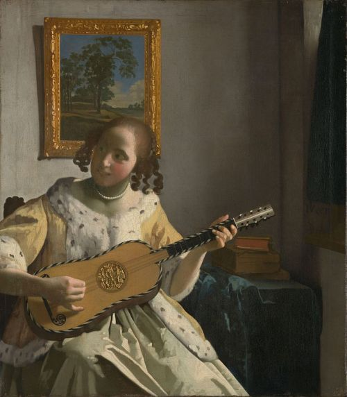 Vermeer - La suonatrice di chitarra - olio su tela 1670-72