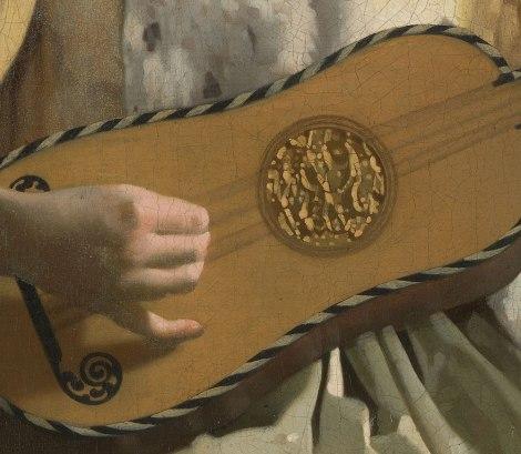 La suonatrice di chitarra - dettaglio