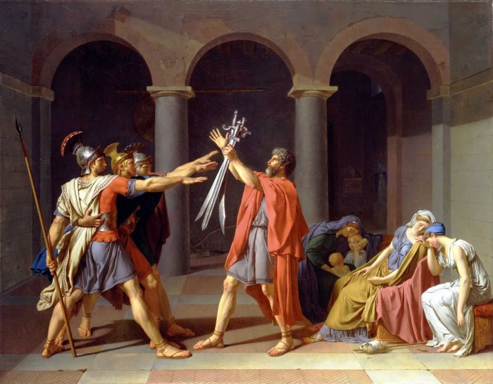 Jacques-Louis David - Il Giuramento degli Orazi, 1784