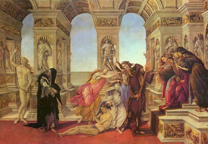 La Calunnia - Botticelli, 1497 circa